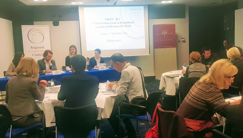 4th Meeting Of RCC – ERI SEE Working Group On Recognition Of Academic Qualifications In The Western Balkans